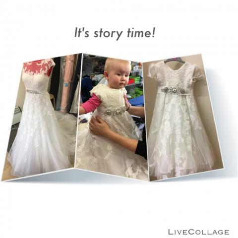 bride and bridesmaid dresses