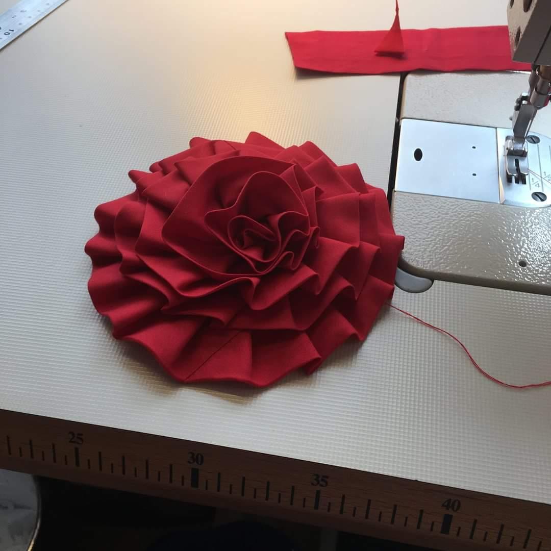 making a rose