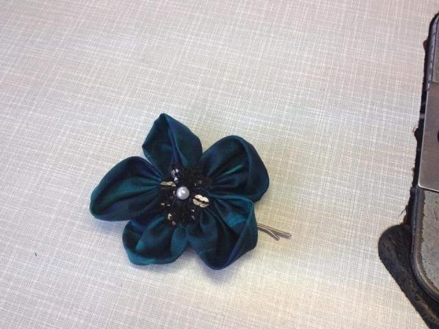 handmade rose hair clip