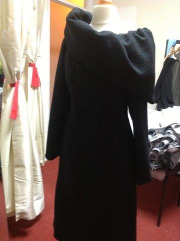 black bespoke dress