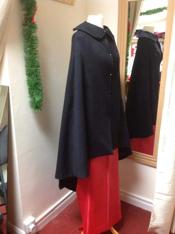 handmade black cape