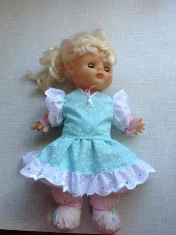 dressmaking doll's dress handmade