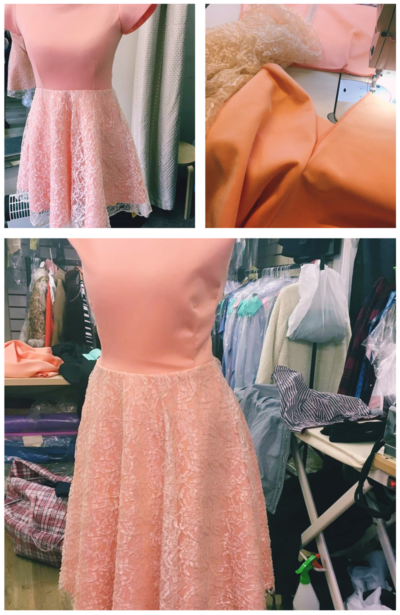 making a dress in pictures